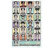 Benedict Cumberbatch Faces Photographic Print