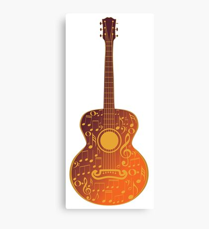 Guitar and Music Notes 5 Canvas Print