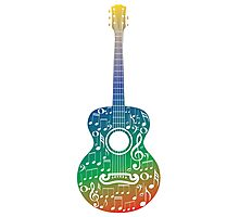 Guitar and Music Notes 6 Photographic Print