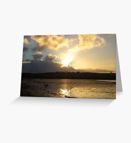 GOLDEN STREAKS Greeting Card