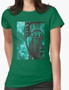 Green Buddha by MancerBear Womens Fitted T-Shirt