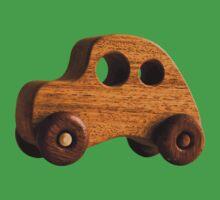 Wooden retro funky toy car by Johan Larson