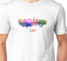 Lille skyline in watercolor Unisex T-Shirt
