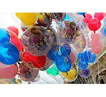 Disney Ballons Photographic Print
