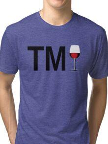 TM Wine (Black Ink/Red Wine) Tri-blend T-Shirt