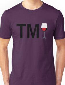 TM Wine (Black Ink/Red Wine) Unisex T-Shirt