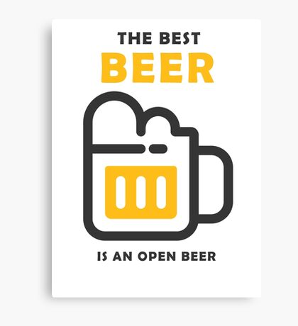 The Best Beer Canvas Print