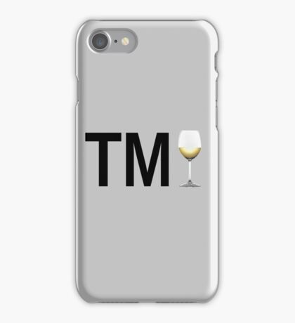 TM Wine (Black Ink/White Wine) iPhone Case/Skin