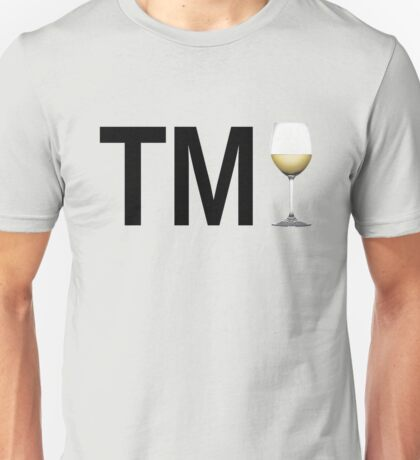 TM Wine (Black Ink/White Wine) Unisex T-Shirt