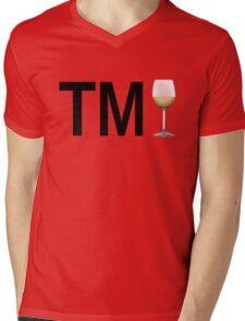 TM Wine (Black Ink/White Wine) Mens V-Neck T-Shirt