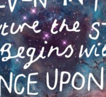 The Lunar Chronicles Space Quote Sticker