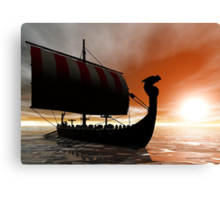 Viking Sunset Canvas Print