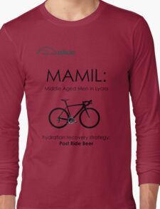 Cycling T Shirt - MAMIL (middle aged men in lycra) Hydration Long Sleeve T-Shirt