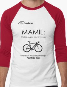 Cycling T Shirt - MAMIL (middle aged men in lycra) Hydration Men's Baseball ¾ T-Shirt