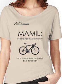 Cycling T Shirt - MAMIL (middle aged men in lycra) Hydration Women's Relaxed Fit T-Shirt