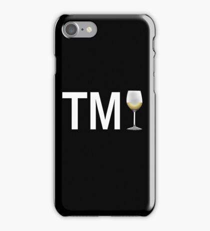 TM Wine (White Ink/White Wine) iPhone Case/Skin