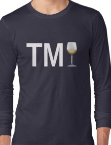 TM Wine (White Ink/White Wine) Long Sleeve T-Shirt