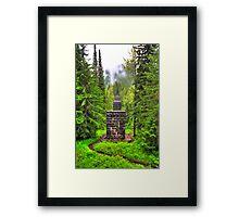 Pillars in the forest Framed Print