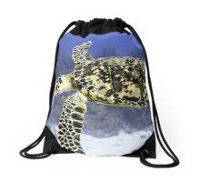 Hawksbill Sea Turtle Drawstring Bag