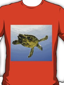 Caribbean Hawksbill Sea Turtle at Play T-Shirt