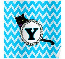 Y Cat Chevron Monogram Poster