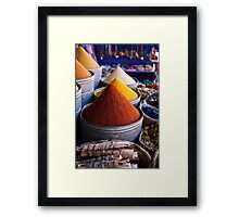 Spices of Marrakesh Framed Print