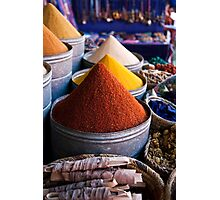 Spices of Marrakesh Photographic Print