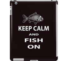 Keep calm and fish on iPad Case/Skin