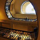 Blue Balustrade  by Karen E Camilleri