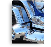 1955 GMC Pickup Street Rod Chrome Bumper - Liquid Metal Canvas Print