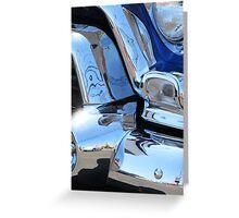 1955 GMC Pickup Street Rod Chrome Bumper - Liquid Metal Greeting Card