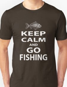 Keep calm and go fishing Unisex T-Shirt