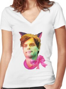 Gubler Cat Women's Fitted V-Neck T-Shirt