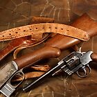 Pistol, Rifle, Holster and Belt by opticalreflex