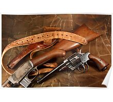 Pistol, Rifle, Holster and Belt Poster