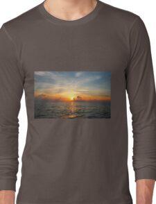 Caribbean Ocean Sunset Long Sleeve T-Shirt