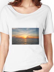 Caribbean Ocean Sunset Women's Relaxed Fit T-Shirt