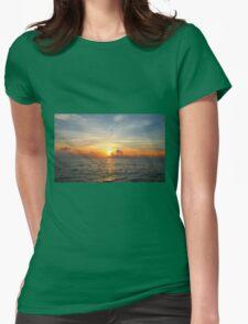 Caribbean Ocean Sunset Womens Fitted T-Shirt