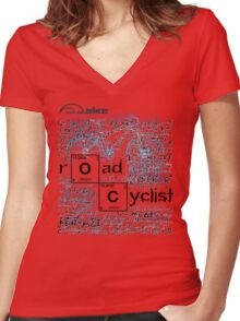 Cycling T Shirt - Road Cyclist Women's Fitted V-Neck T-Shirt
