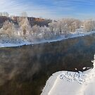 Mist under the winter river. by Vanger