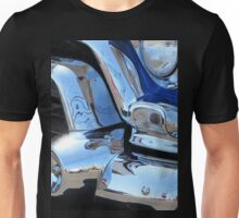 1955 GMC Pickup Street Rod Chrome Bumper - Liquid Metal Unisex T-Shirt