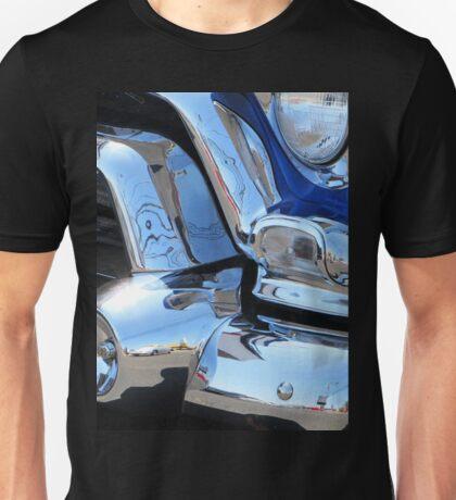 1955 GMC Pickup Street Rod Chrome Bumper - Liquid Metal Unisex T-Shirt