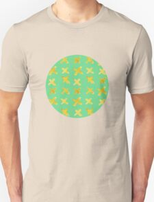 Yellow cross on green T-Shirt