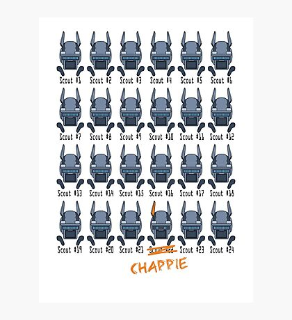 Chappie - Scout 22 Photographic Print