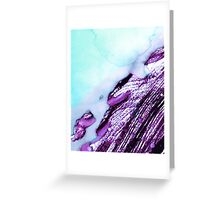 Light Blue Abstract Watercolor  Greeting Card