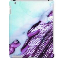 Light Blue Abstract Watercolor  iPad Case/Skin
