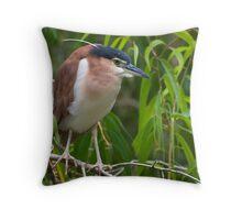 Out on a limb - Nankeen  Night Heron Throw Pillow