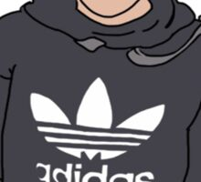 Liam Payne Adidas Cartoon (Grey) Sticker