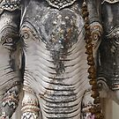 Elephant heads, Phetchaburi. by Syd Winer
