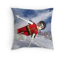 Robin goes wild Throw Pillow